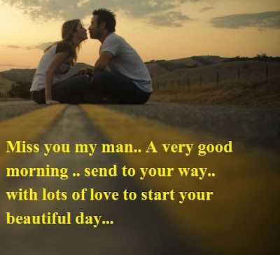 Romantic good morning quotes for him with image