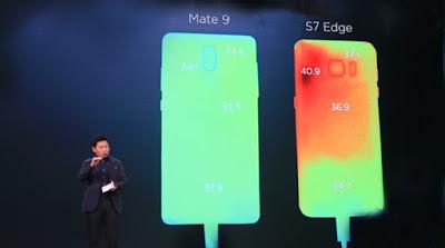 Huawei Mate 9 درجة حرارة الهاتف