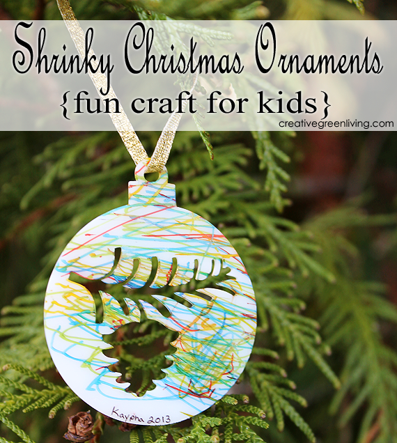 Shrinky Dink or Make It Bake It Christmas Ornament craft tutorial