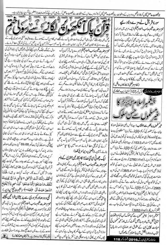 Wazifa Quran Pak