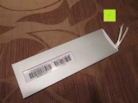 Hülle hinten: Amazon.de Geschenkgutschein als Lesezeichen - mit kostenloser Lieferung am nächsten Tag