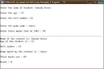 CBSE Class 12 - Computer Science - C++ Practical Class Design Snippet-3  (#cbseNotes)
