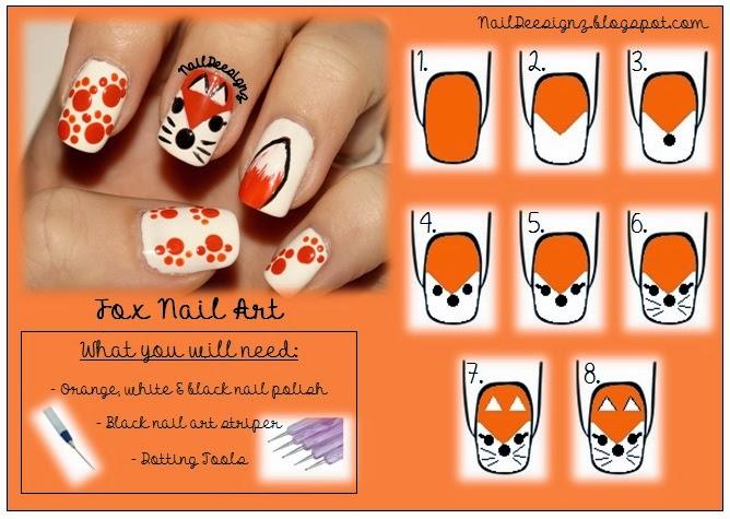 NailDeesignz: Fox Nail Art