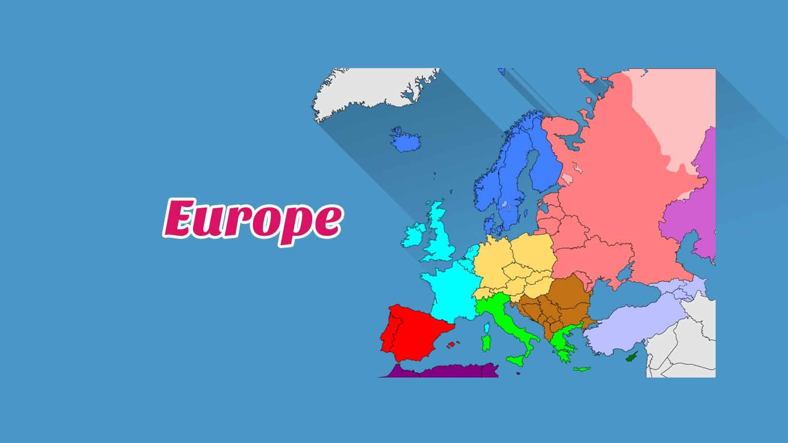 Kosakata Bahasa Inggris Negara Di Benua Eropa Disertai Gambar, Audio Dan Pronunciation