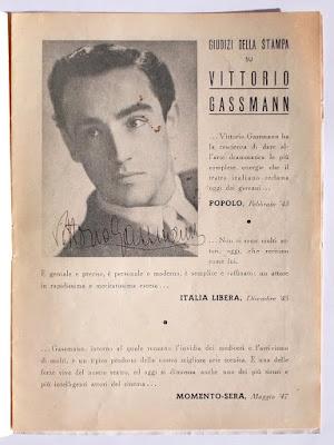 Compagnia Maltagliati-Gassmann: programma teatrale con autografi - collezionismo