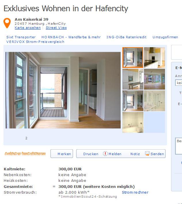 exklusives wohnen in der hafencity am kaiserkai 39 20457 hamburg. Black Bedroom Furniture Sets. Home Design Ideas