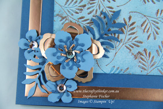 Stampin Up, #thecraftythinker, #CrazyCraftersBlogHop, Botanical Builder, Fancy Frost DSP, Copper, Stampin Up Australia Demonstrator, Stephanie Fischer, Sydney NSW