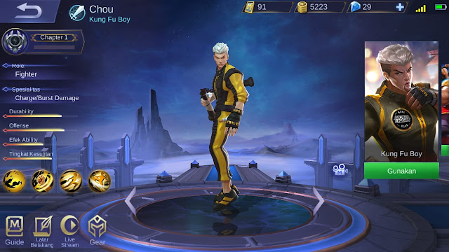 Fighter Terkuat di Mobile Legends Season 11 Chou