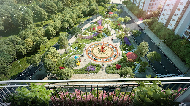 Khuôn viên sân vườn, chỗ vui chơi cho trẻ