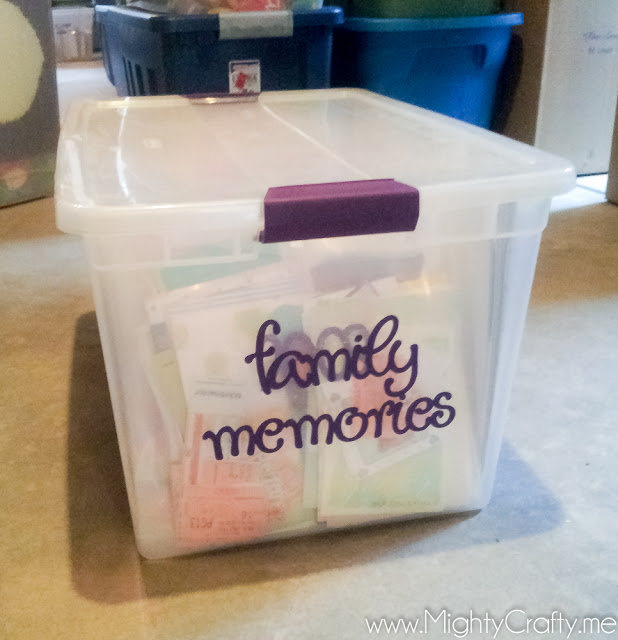 Family memories storage - www.MightyCrafty.me