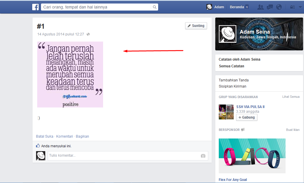 Trik Facebook Membuat Catatan Di Facebook Menggunakan Gambar Apa Saja