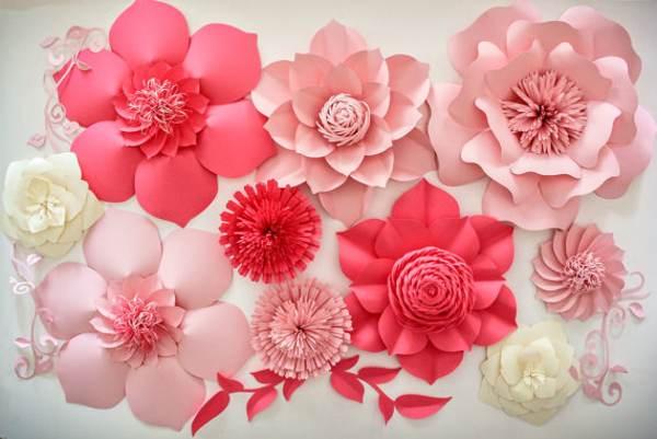 Flores Gigantes De Papel Com Molde Para Imprimir Criatividade