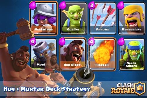Strategi Deck HogRider Mortar Arena 6 7 8 9 Clash Royale