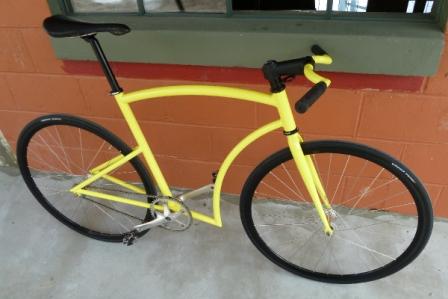 Sepeda Fixie Fiber Frame Kuning:Modifikasi Sepeda Fixie
