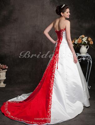 Vestido de noiva cauda colorida