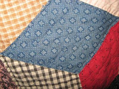 vintage tumbling blocks quilt block