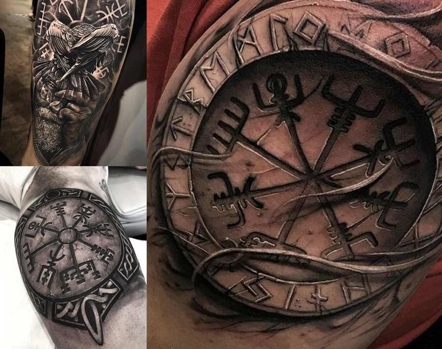 Tatuajes del Vegvisir la brújula vikinga