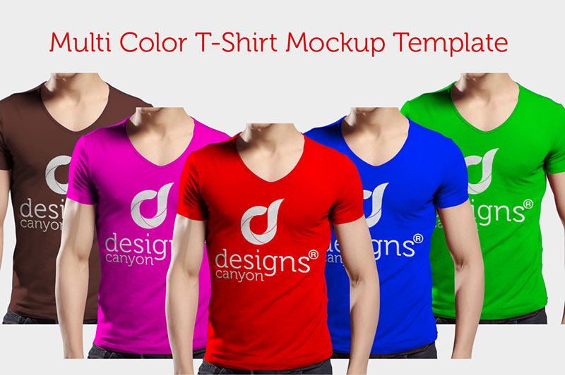 Multi Color T-Shirt Mockup Template