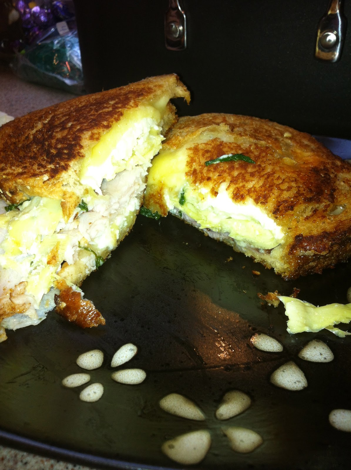 ... in a Life: Best Grilled Cheese Ever: Spinach Artichoke Grilled Cheese