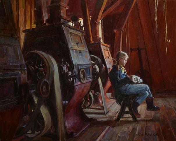 "by Scott Burdick, ""Sheppard's Mill"" - oil on canvas 