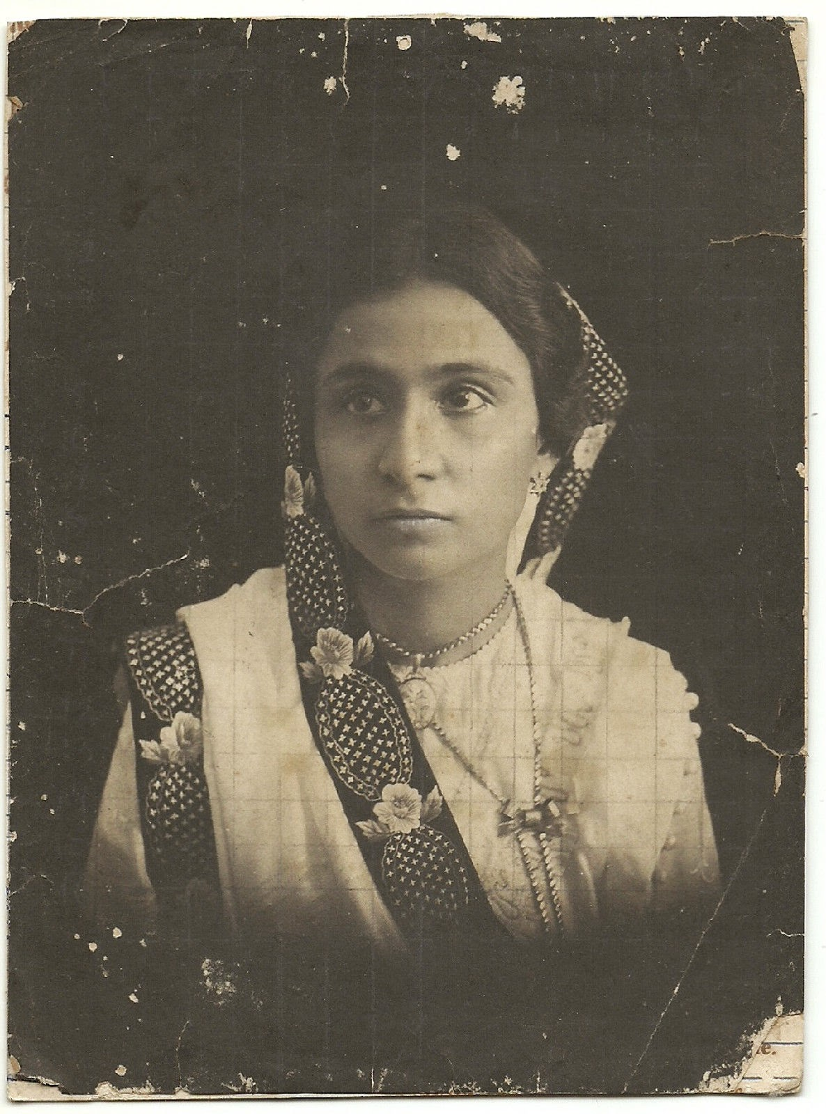 Portrait of a Parsi Lady in Saree