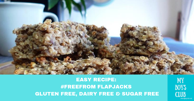 Easy Recipe: #FreeFrom Flapjacks - Gluten free, dairy free & sugar free