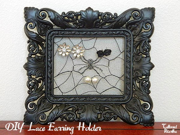 Halloween Style Lace Earring Holder from Tattooed Martha