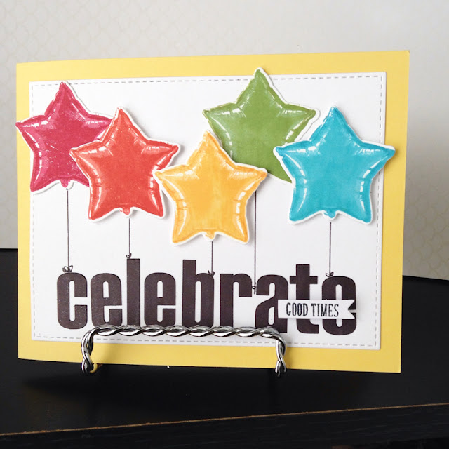 Sunny Studio Stamps: Bold Balloons Customer Card Share by Kate Deignan
