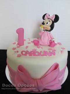 A bebé Minnie no 1º aniversário da Carolina