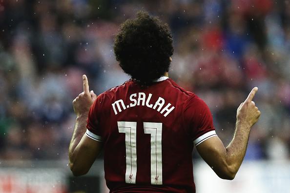 Velocidade, criatividade e bola na rede: 45 minutos de Salah com a camisa do Liverpool