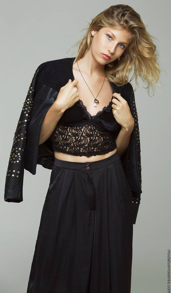 Moda mujer 2017 ropa de moda looks de fiesta invierno 2017.