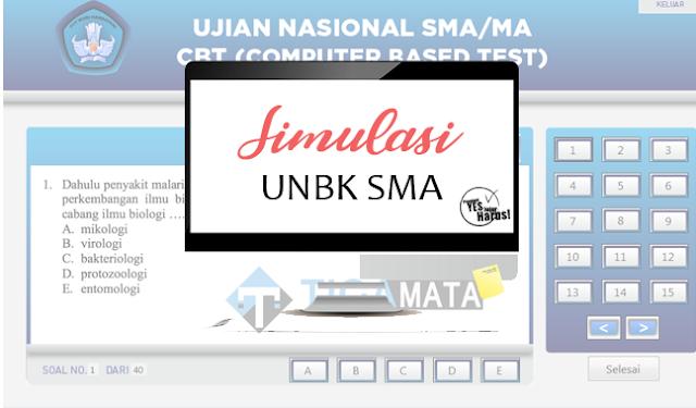 Aplikasi Simulasi UNBK SMA 2019 Offline dan Online (Swf dan Exe)