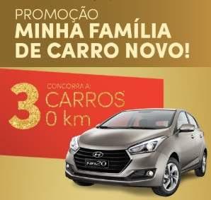 Cadastrar Promoção Torra Torra Natal 2018 Minha Família Carro Novo - 3 Carros 0KM