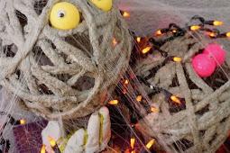 How to Make Halloween Concrete Mummies