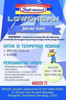 Lowongan Kerja Indomaret Bandung Terbaru 2020