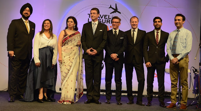 Ruchira Bose , Parineeta Sethi and Ambassador of  Germany to India Dr. Martin Ney at the 10th Anniversary in the South Asian region, Travel + Leisure India & South Asia