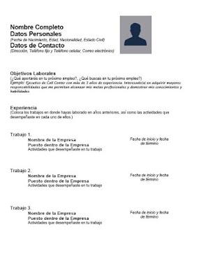 pdf curriculum vitae gratis