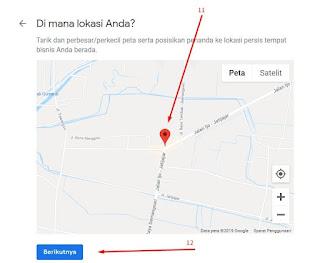 Cara mendeteksi lokasi bisnis dengan google map.