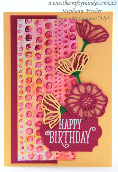 #thecraftythinker #stampinup #ohsoeclectic #cardmaking #embossingtechniques #dottodot , Dot To Dot, Oh So Eclectic, Eclectic Layers, Brusho Colour Crystals, embossing techniques, Stampin' Up Australia Demonstrator, Stephanie Fischer, Sydney NSW