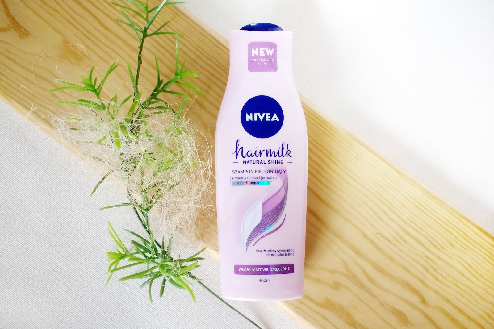 Szampon pielęgnujący Nivea Hairmilk Natural Shine | włosy matowe i zmęczone {Recenzja}