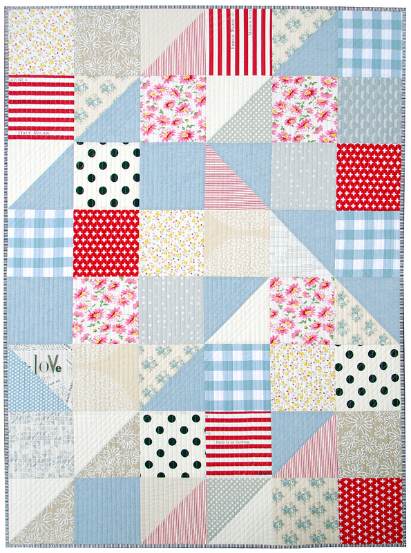 Red Pepper Quilts A Big Block Half Square Triangle Quilt