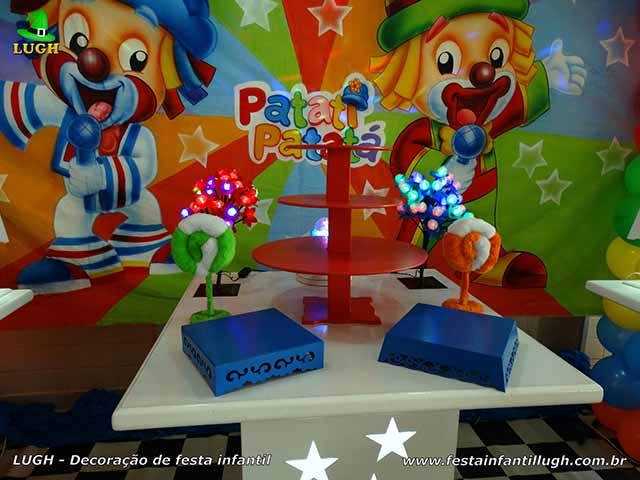 Mesa decorada Patatí Patatá - Aniversário infantil