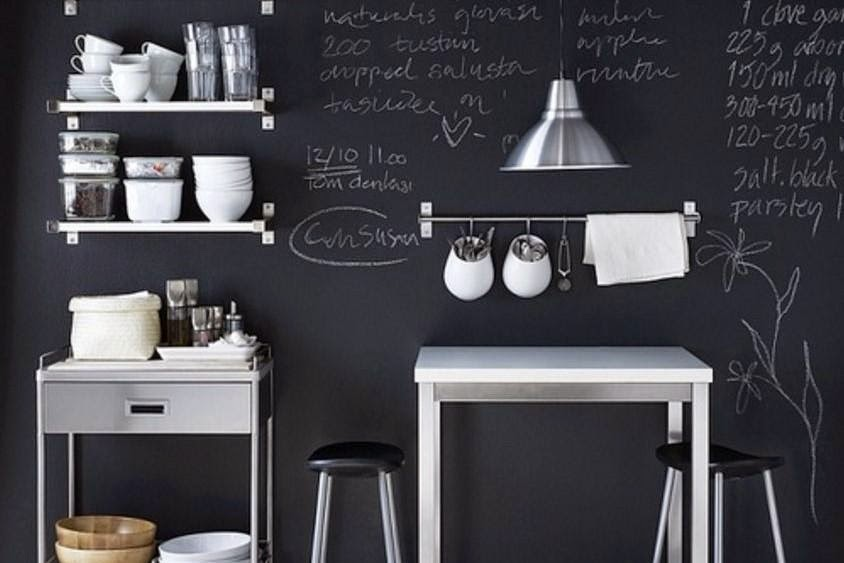 decorar cocina negro blanco
