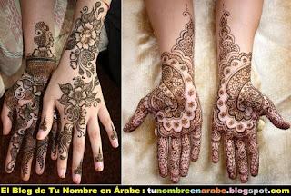 Tatuajes de henna para manos