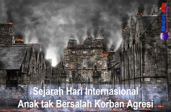 sejarah hari internasional anak tak bersalah korban agresi sedunia