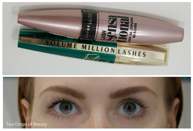 L'Oreal Volume Million Lashes Filine  VS Maybelline Lash Sensational mascara - сравнение