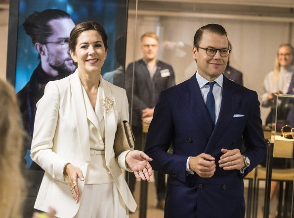 Crown Princess Mary of Denmark and Prince Daniel of Sweden visited the AB Sverige Design Lounge (Designlounge) in Stockholm