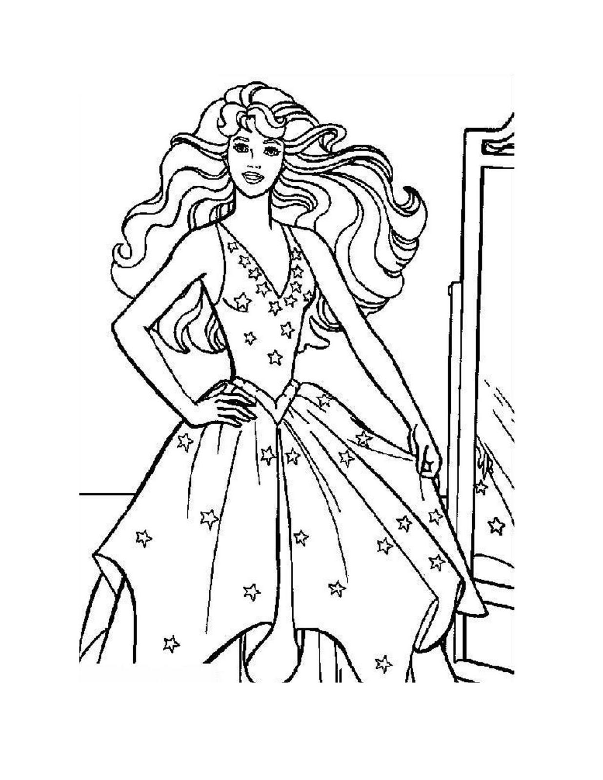 coloring pages of a princess | Mi mundo Barbie: Barbie para colorear