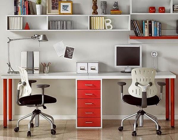 Despacho en casa y zona de estudio for Muebles para estudio