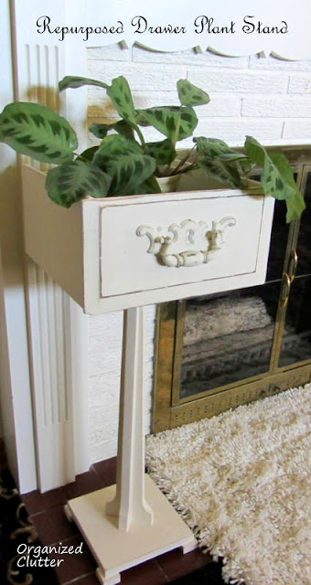 Repurposed Drawer Plant Stand